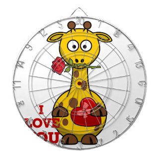 i love you giraffe dartboard