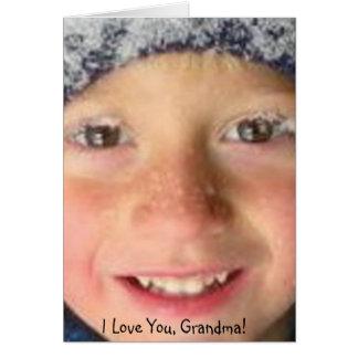 I love you Grandma Card
