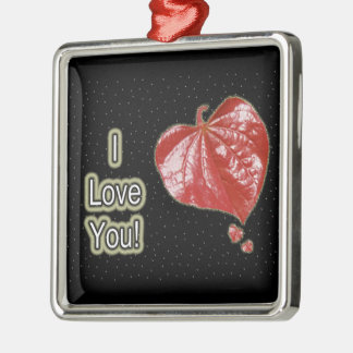 I Love You Greeting - Young Redbud Leaf in Spring Ornaments