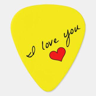 I Love You Guitar Picks Guitar Pick