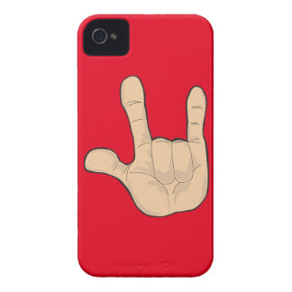 I LOVE YOU HAND GESTURE iPhone 4 CASE