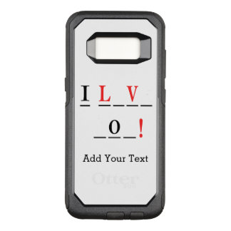 I Love You-Hangman Style by Shirley Taylor OtterBox Commuter Samsung Galaxy S8 Case