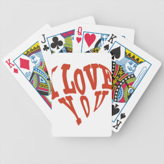 I Love You Heart Bicycle Playing Cards