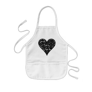 I Love You Heart Design for Weddings & Holidays Aprons