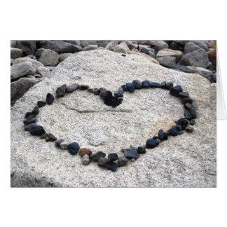 I Love You Heart on Rocks Card