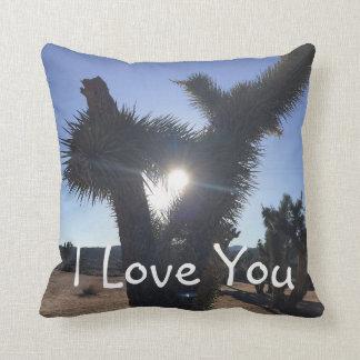 I Love You Heart Shaped Lighting Cushion