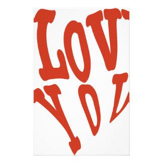I Love You Heart Stationery