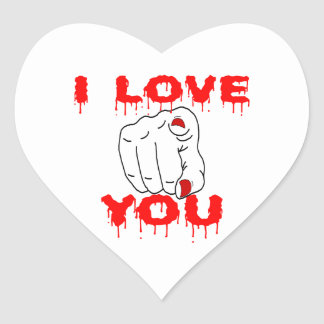 I Love You Heart Sticker