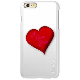I love You Heart Incipio Feather® Shine iPhone 6 Plus Case
