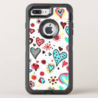 I Love You Hearts OtterBox Defender iPhone 8 Plus/7 Plus Case