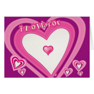 I Love You-Hearts-Valentine's Day Card