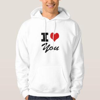 I Love You Hoddies Sweatshirts