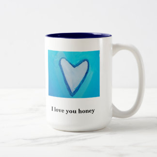 I LOVE YOU HONEY Two-Tone COFFEE MUG