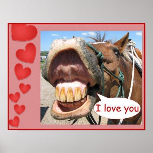 Quot I Love You Quot Horse Print Customisable Zazzle