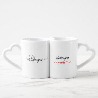 I Love You / I Love You More Couples Mug