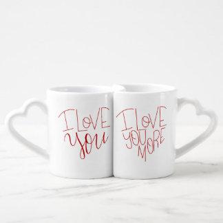 """I Love You"" & ""I Love You More"" Couple's Mugs"