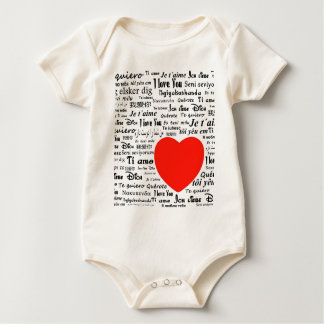 I love you in different languages baby bodysuit