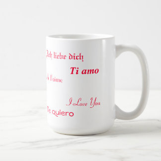 I Love You In Five Languages Coffee Mug