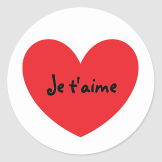 """I Love You"" in French Stickers"