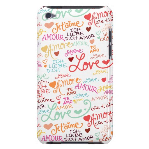 I Love You in Other Languages Pod Touch Cases iPod Case-Mate Cases