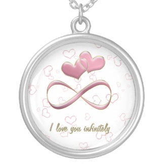 I love you infinitely necklace