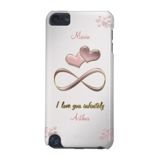 I love you infinitely stylish pink  gray case iPod touch 5G cover