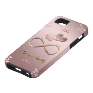 I love you infinitely Valentine's Day  pink iPhone 5 Cover