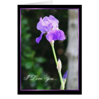 I Love You Iris greeting card