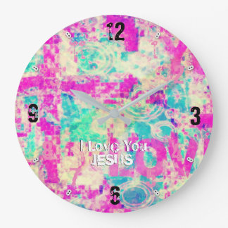 I Love You JESUS 93 Large Clock