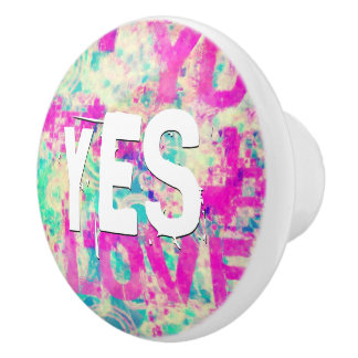 I Love You JESUS Ceramic Knob