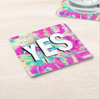 I Love You JESUS Square Paper Coaster