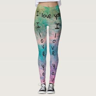 I love you Leggings by DAL