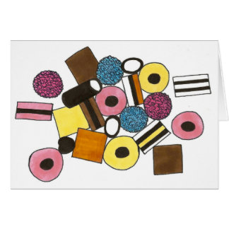 I Love You Licorice Allsorts Candy Valentine's Day Card