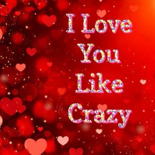Crazy Love Cushions Decorative Throw Cushions Zazzle Au