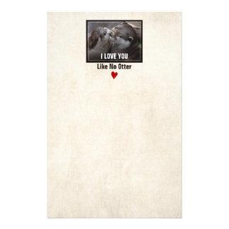 I Love You Like No Otter Cute Photo Stationery