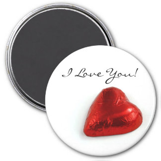 I love you - love heart magnet
