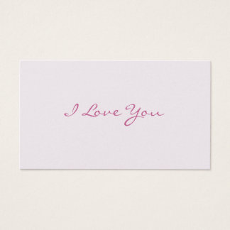 I Love You Love Notes Business Card