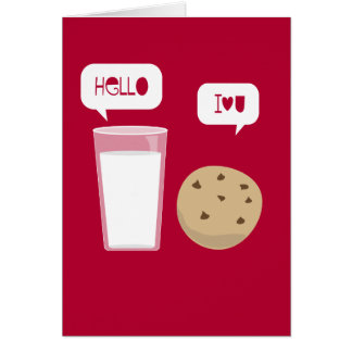 I Love You Milk & Cookie Card Be My Valentine