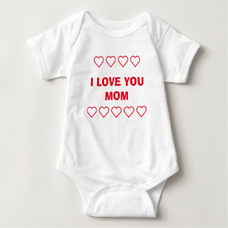 ❤❤I LOVE YOU MOM ❤❤ / ADD MOM 'N BABY PHOTO BABY BODYSUIT