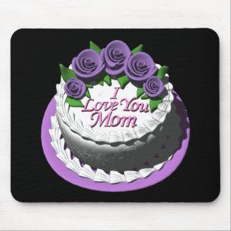 I Love You Mom Cake Mouse Pad