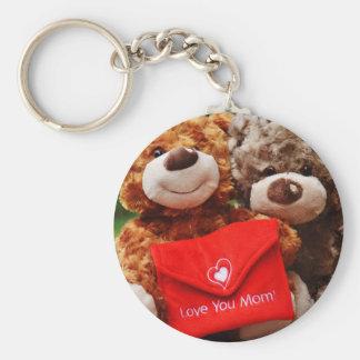I LOVE YOU MOM - Cute & Cuddly Teddy Bears Key Ring