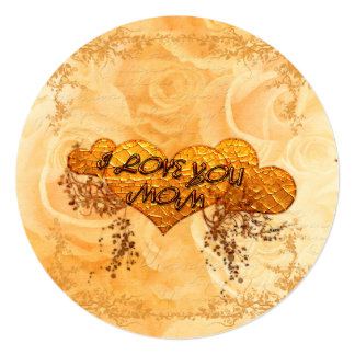 I love you mom with hearts and roses card