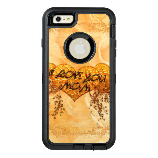 I love you mom with hearts and roses OtterBox iPhone 6/6s plus case