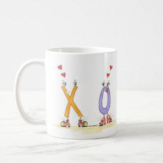 I love you more coffee mug X loves O