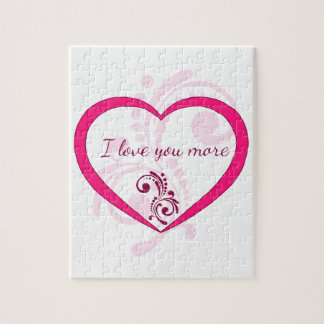 I love you more jigsaw puzzle