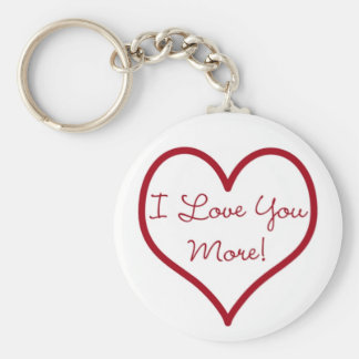 I Love You More Key Chain