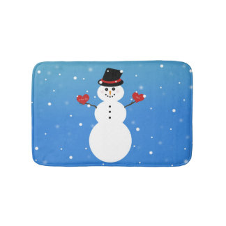 I Love You More Snowman Bath Mat
