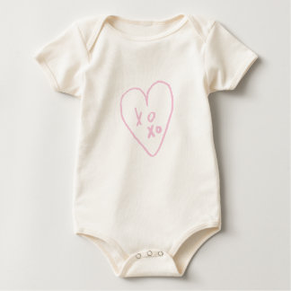 I LOVE YOU MORE THAN ANYTHING 'XOXO' BABY BODYSUIT