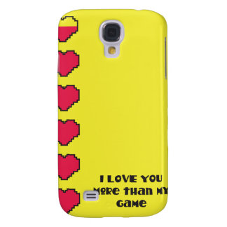 I love you more than my game digital hearts galaxy s4 cases