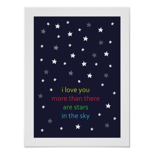 i love you more than there are stars - poster